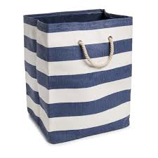 Wilkinsons Bathroom Accessories by Wilko Blue And White Striped Laundry Bag At Wilko Com