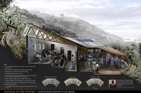 uganda proposed adaptable hillside classrooms by feilden clegg