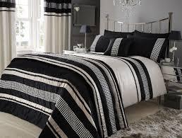 Black Duvet Cover King Size Black And Cream Duvet Covers 3300
