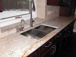 Kitchen Sinks With Backsplash Bathroom Attractive Kitchen Design With Colonial Cream Granite