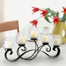 Vintage Bohemian Lead Crystal Candle Holder For Three Candles Metal Candles U0026 Candle Holders For Less Overstock Com