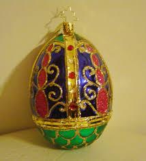 glass easter egg ornaments christopher radko bedecked and bejeweled glass easter egg ornament