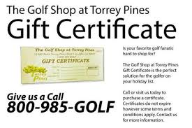 gift certificates gift certificates the golf shop at torrey pines