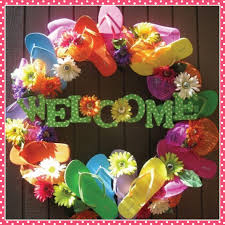 flip flop wreath paper so pretty flip flop wreath for summer