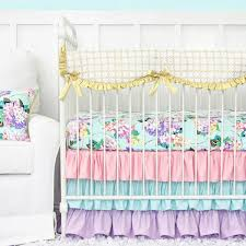s hydrangea bumperless crib bedding caden
