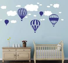 online buy wholesale wall stickers baby rooms from china wall hot air balloons clouds wall stickers nursery baby room wall vinyl decor decoration china