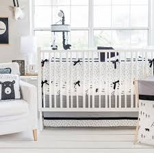 woodland baby bedding black and white baby bedding black bear