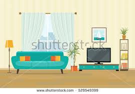 Living Room Interior Design Furniture Sofa Stock Vector - Sofa interior design
