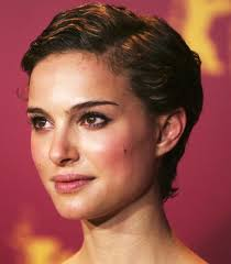 short celebrity hairstyles natalie portman side parted pixie cut