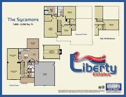 Sycamore Floor Plan Liberty Estates Friendship Inc
