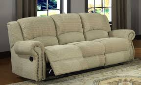 Beige Reclining Sofa Homelegance Quinn Reclining Sofa Olive Beige Chenille