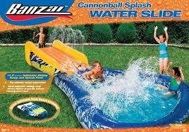banzai cannonball splash backyard pool water slide backyard