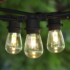patio led lights string with backyard lighting weather resistant