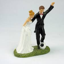 football wedding cake toppers football marriage polyresin figurine wedding cake toppers