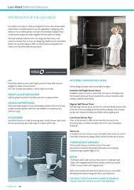 accessible shower doors heat merchants tubs u0026 tiles plumbing brochure 2015 page 42 43