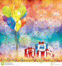 birthday balloon deliveries happy birthday background with balloon and gifts stock vector