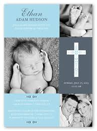 cross of boy invitation card baptism invitations shutterfly