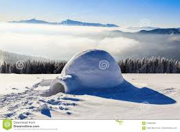 marvelous huge white snowy hut igloo the house of isolated