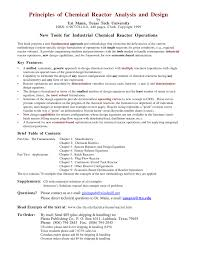 principles of chemical reactor analysis and design new tools for