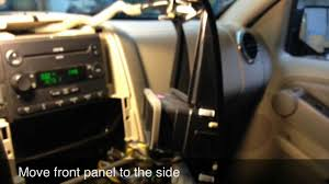 how to replace the radio on a ford explorer youtube