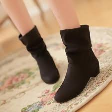 womens mid calf boots nz s shoes nz fashion boots pointed toe low heel mid calf boots