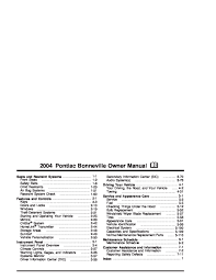 2004 pontiac bonneville owners manual just give me the damn manual