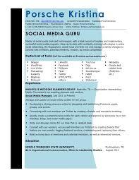 social media resume updated social media resume