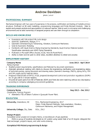 resume format for engineering students in word mechanical engineer resume sles and writing guide 10 exles