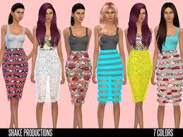 sims 4 designer dress with transparent skirt