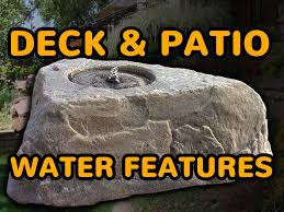 Small Water Features For Patio Faux Rock Deck Water Features Perfect Discount Patio Water
