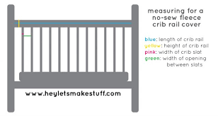 easy no sew fleece crib rail covers