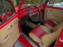 Used Cars With Leather Interior Volkswagen Beetle Red Interior Carros Pinterest Red