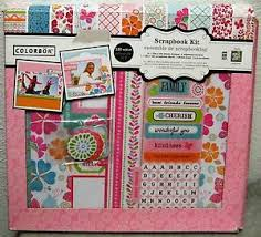 colorbok scrapbook colorbok scrapbook kit album papers stickers chipboard accents