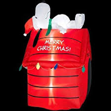 Snoopy Doghouse Christmas Decoration by Peanuts Outdoor Christmas Decorations Special Deals