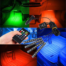 Led Strip Lights Remote Control by Accessories Car Electronics Rgb 7 Color Led Neon Strip Light