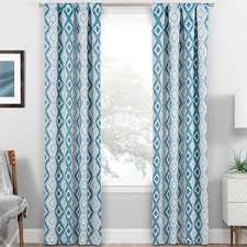 Teal Curtain Modern Curtains And Drapes Allmodern