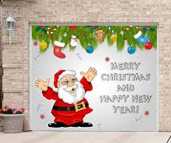christmas garage door covers banner outside house decorations
