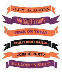 halloween banners a set of six halloween banners ribbons in orange purple and
