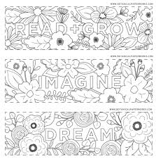 free printables read grow coloring bookmarks for back to