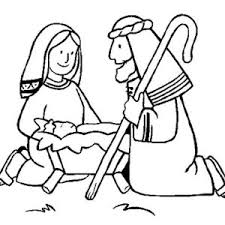 jesus mary joseph coloring pages coloring
