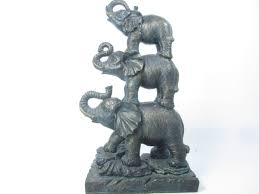 gold elephant statues for home decor on elephant statue home