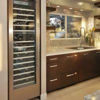 Under Cabinet Wine Fridge by Furniture Large Wine Cooler Cabinet With Clear Glass Door With