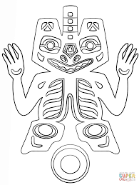 haida indians deity coloring page free printable coloring pages
