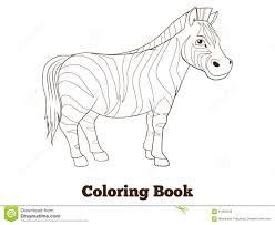 coloring book zebra african savannah animal stock vector image