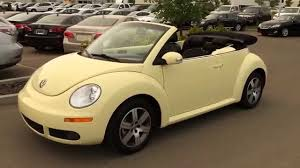 pre owned yellow 2006 volkswagen new beetle convertible 2dr 2 5l