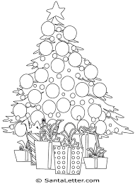 christmas tree coloring pages santaletter