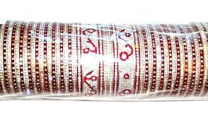Indian Wedding Chura Maroon Indian Bridal Chura 2 4