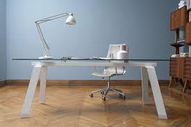 bureau en verre design table de réunion en verre extensible toronto bureau