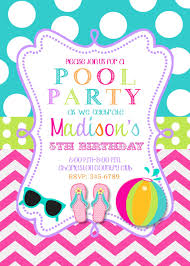 Invited Card For Birthday Pool Party Invitations Kawaiitheo Com
