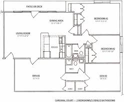 one madison floor plans the madison expanded u2013 2 bedroom 2 bath 2 den cardinal court